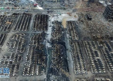 بالصور| احتراق 4000 سيارة إثر حادث انفجار تيانجين في الصين