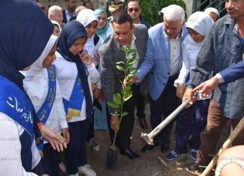 """محافظ البحيرة يطلق إشارة بدء مبادرة الرئيس """"زراعة مليون شجرة مثمرة"""""""
