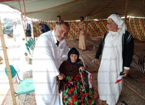 معمرة 101 عام بمطروح تدلي بصوتها في الانتخابات الرئاسية