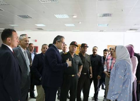 وزير الآثار وكامل الوزير في جولة لتفقد سير العمل بمتحف الحضارة المصرية