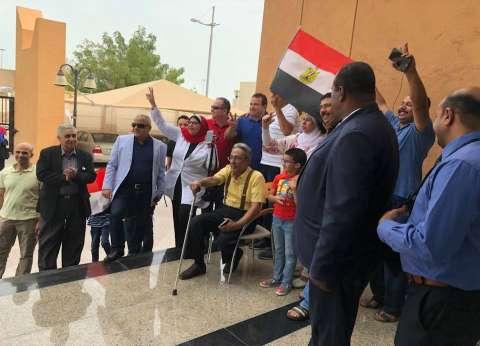 """وزيرة الهجرة: المصريون يصوتون في قطر بـ""""الأعلام والزغاريد"""""""