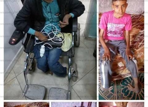 """""""قاهر الظروف"""".. محمد طالب ثانوية تحدى الفقر والإعاقة وحصل على 73.7%"""