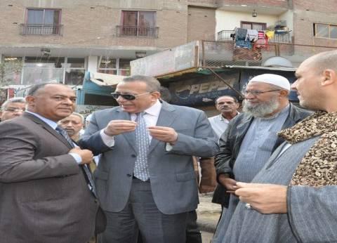 محافظ الجيزة يطالب بتكثيف حملات إزالة الإشغالات