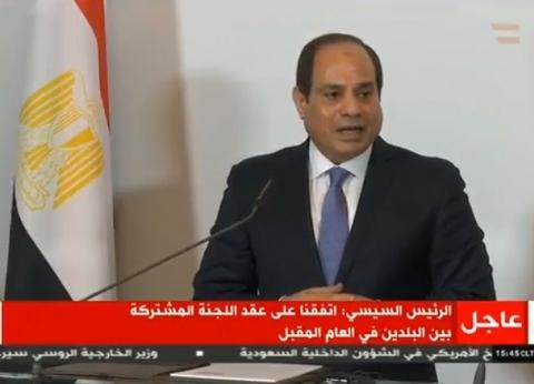 الرئيس السيسي: اتفقنا على عقد اللجنة المشتركة بين مصر والنمسا 2019