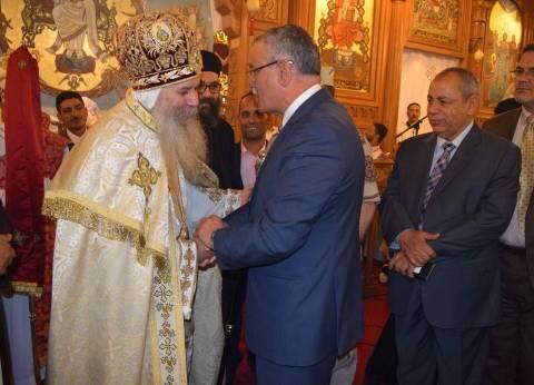 محافظ المنيا يقدم التهنئة للمسيحيين بمناسبة عيد القيامة