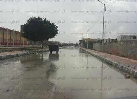 موجة من الطقس السيئ تضرب القليوبية.. والأمطار الغزيرة تربك حركة المرور