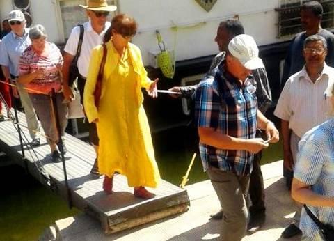 وصول فوج سياحي ألماني لمعبد أبيدوس بسوهاج