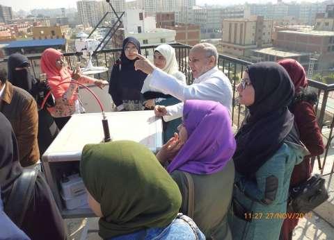 """طالبات الدراسات الإسلامية بجامعة الأزهر في رحلة علمية لـ""""كلية علوم"""""""