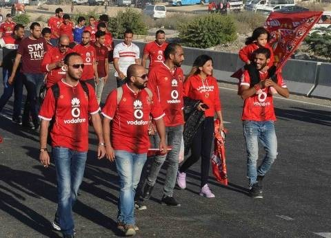 الآلاف يتوافدون على استاد برج العرب لحضور مباراة الأهلي والوداد