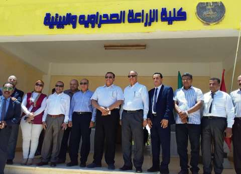 رئيس جامعة المنوفية يتفقد كليات فرع جامعة الإسكندرية بمطروح