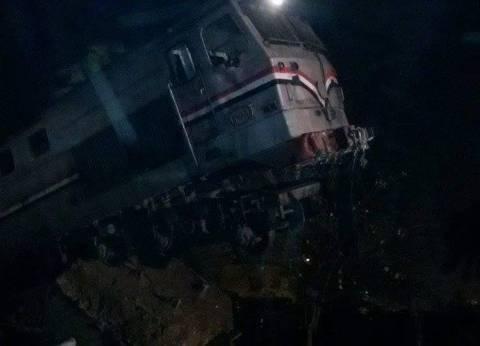 ننشر فيديو لحادث انقلاب قطار بني سويف