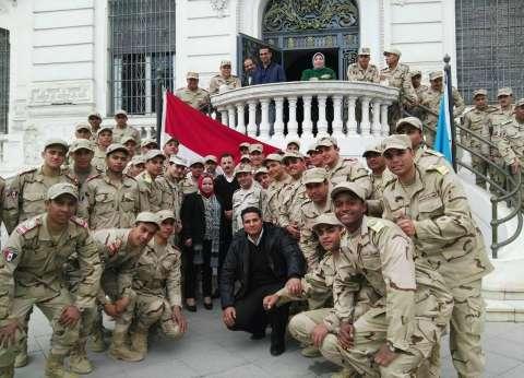 قوات الدفاع الجوي تزور متحف الإسكندرية القومي