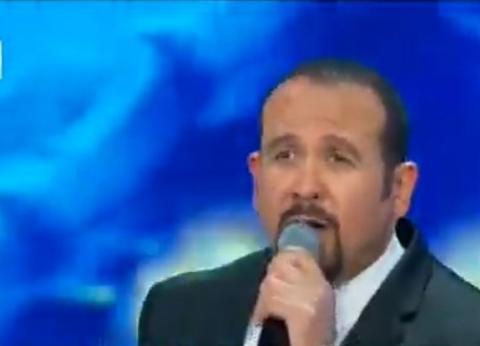 """هشام عباس يغني """"أسماء الله الحسنى"""" في افتتاح مسجد وكاتدرائية العاصمة الإدارية"""