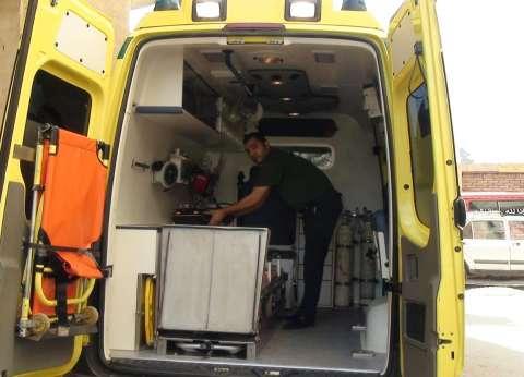 الصحة: اصابة 23 شخص في حادث تصادم اتوبيس بسيارة نقل بمحافظة المنيا