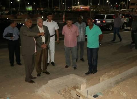 بالصور| محافظ جنوب سيناء يتفقد المرحلة الثانية من مشروع هضبة أم السيد