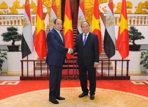 السيسي يبحث فرص تعزيز التعاون مع رئيس وزراء فيتنام