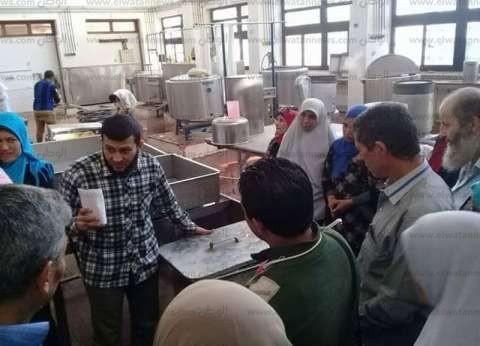 بالصور| جامعة قناة السويس تدرب المواطنين على صناعة الجبن