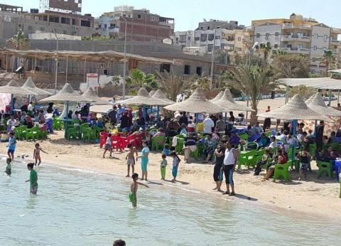 الإنقاذ البحري تكثف تواجدها بشواطئ الغردقة في شم النسيم