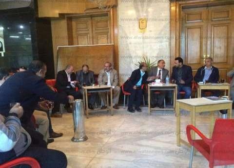 عبدالمحسن سلامة يصل مقر النقابة للتسجيل في الجمعية العمومية للصحفيين