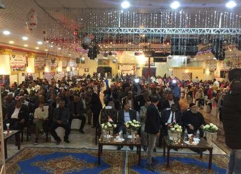 مؤتمر حاشد دعمًا للرئيس السيسي في مدينة رأس غارب بالبحر الأحمر