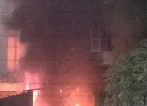عاجل  إصابة شخصين فى حريق المعادي الجديدة