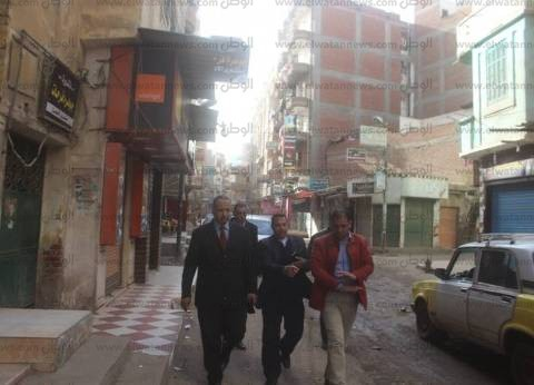 بالصور| جولة تفقدية لرئيس مدينة دسوق ببعض الشوارع والمناطق