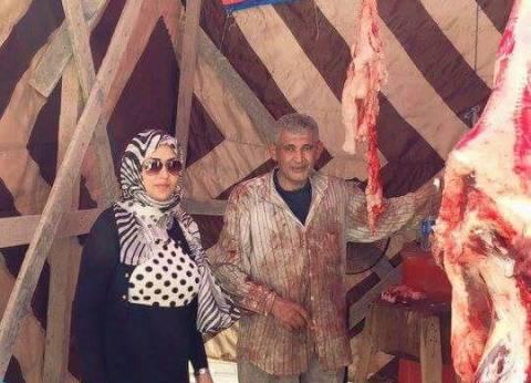 افتتاح شادر لبيع اللحوم بالزرقا بـ110 جنيه للكيلو في دمياط