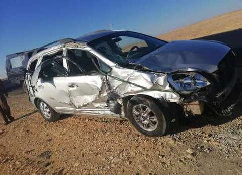 مصرع أم وابنها بحادث تصادم بالطريق الصحراوي غرب الإسكندرية
