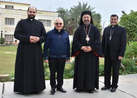 الأنبا إبراهيم إسحق يصل بغداد للمشاركة في اجتماع البطاركة الكاثوليك