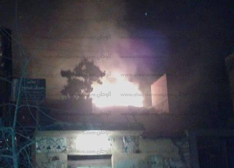 السيطرة على حريق أعلى منزل في الفيوم