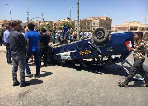إصابة 15 مجندا في حادث انقلاب سيارة على الطريق الدولي بدمياط