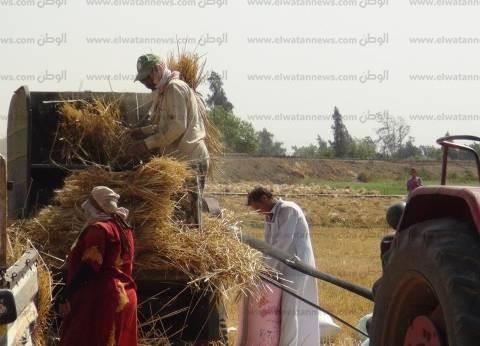 عاجل| بدء احتفالية إطلاق شارة بدء حصاد موسم القمح بتلاوة آيات من القران الكريم
