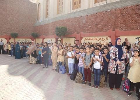 2232 مدرسة تستقبل 980 ألف طالب في أول يوم دراسي بالمنوفية
