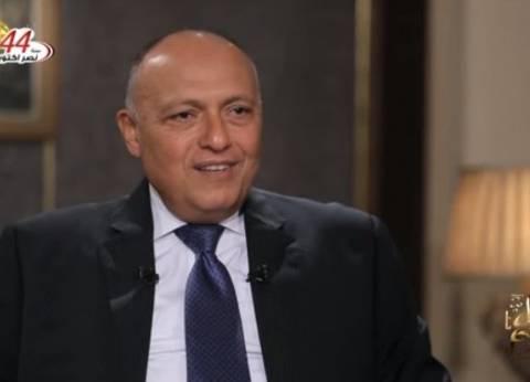 سامح شكري: هناك علاقات تجارية بين تركيا ومصر