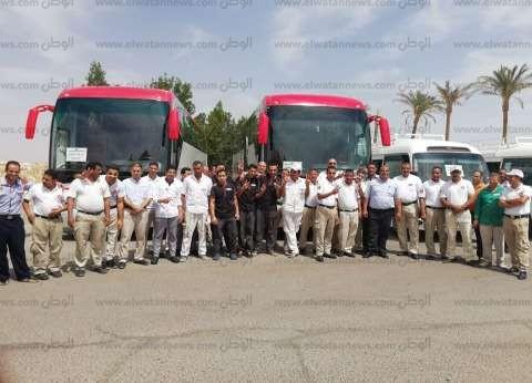 أتوبيسات لنقل العاملين بالسياحة لمقار لجانهم الانتخابية في شرم الشيخ