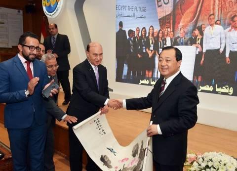 الفريق مميش يستقبل وفدا صينيا لبحث التعاون المشترك في المجال البحري