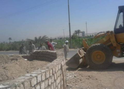إزالة تعديات على الزراعات بمركز ملوي في المنيا