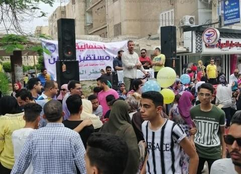 """بالصور  """"مستقبل وطن"""" يوزع هدايا وحلويات على المواطنين في كفر الشيخ"""