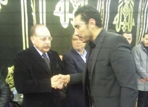 حسن حمدي يعزي في وفاة الناقد الرياضي خالد توحيد