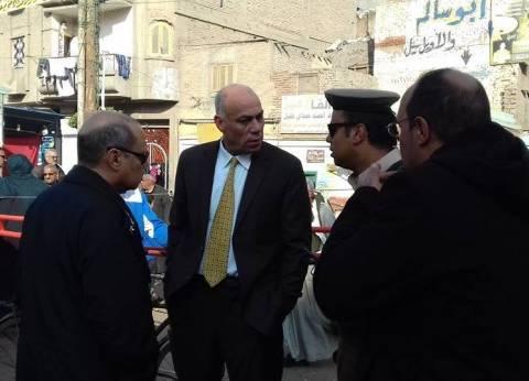 بالصور| رئيس مدينة سمنود بالغربية يقود حملة مرافق لردع الباعة الجائلين