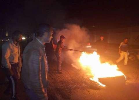 """الحماية المدنية تسيطر علي حريق """"توك توك"""" بالمنصورة"""
