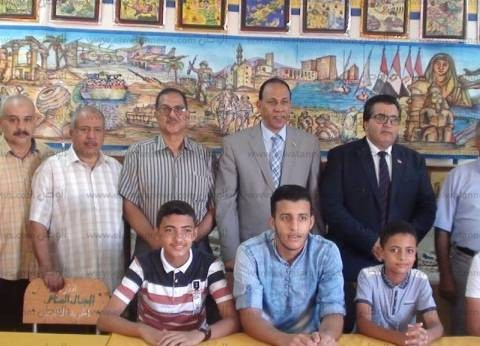 """وكيل """"تعليم جنوب سيناء"""" يفتتح معرض """"بانوراما العملية الشاملة"""""""