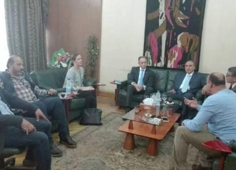 عبدالمحسن سلامة يستقبل سفير أستراليا لبحث تدريب الصحفيين المصريين