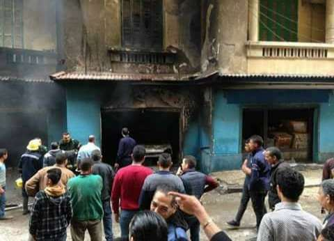 """اشتعال النيران بـ """"جراج"""" سيارات بالإسكندرية"""