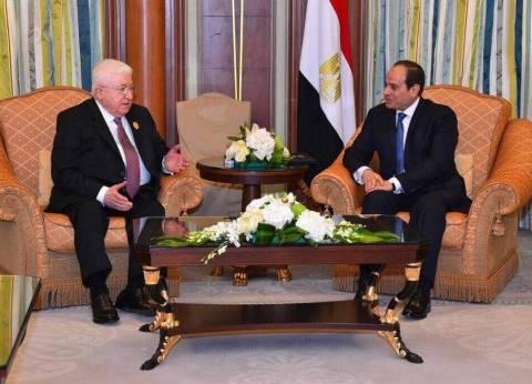تفاصيل لقاء السيسي ورئيس العراق في الرياض
