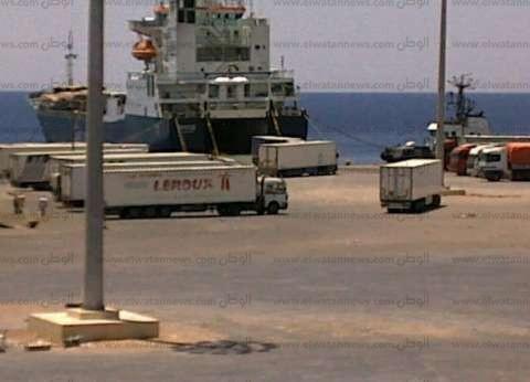 موانىء البحر الأحمر تشهد تداول 376 شاحنة و11 ألف و500 طن بوتاجاز