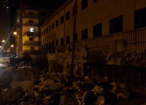 """""""النظافة من الإيمان"""".. شعار على أسوار مدارس تحاصرها القمامة في الإسكندرية"""