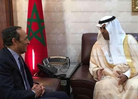 """بالصور  """"السلمي"""" يبحث مع رئيس مجلس النواب المغربي تطوير التعاون العربي"""