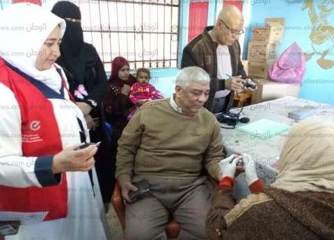 """بالصور  رئيس مدينة دسوق يخضع لإجراء الفحوصات بـ""""100مليون صحة"""""""