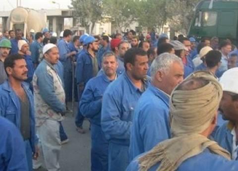 إضراب كامل لعمال غزل المحلة بسبب العلاوة والبدل الغذائي